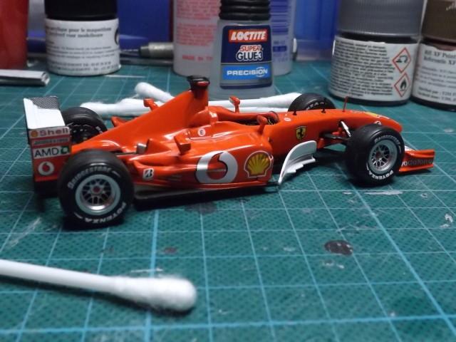 Conversion de la Ferrari F2002 du GP du Canada 2002 de chez Hot-Wheels Elite A343