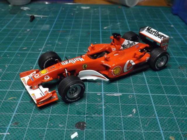 Conversion de la Ferrari F2002 du GP du Canada 2002 de chez Hot-Wheels Elite A353